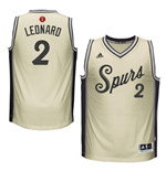 Camiseta Santo Antonio Spurs Kawhi Leonard adidas Gray 2016 Christmas Day Swingman