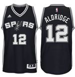 Camiseta Santo Antonio Spurs LaMarcus Aldridge adidas Black New Swingman Road