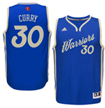 Camiseta Golden State Warriors Stephen Curry adidas Blue 2016 Christmas Day Swingman