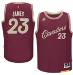 Camiseta Cleveland Cavaliers LeBron James adidas Burgundy 2016 Christmas Day Swingman