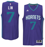 Camiseta Charlotte Hornets Jeremy Lin adidas Purple New Swingman Alternate