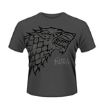 Camiseta Jogo do Poder Soberano (Game of Thrones) Direwolf