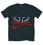 Camiseta Beatles - Guitar & Flag - Preta