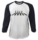 Camiseta manga longa The Beatles - Raglan Abbey Road Crossing