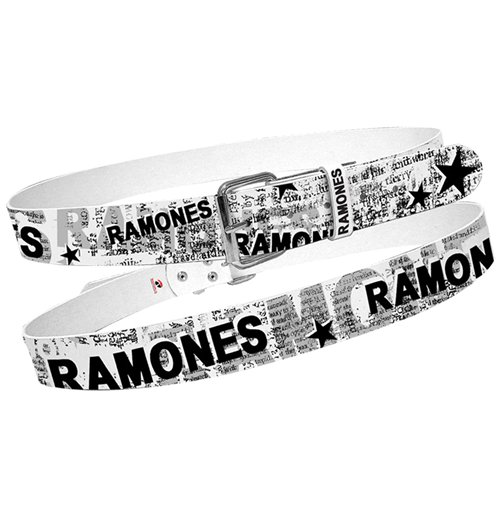 Cinto Ramones  - White With Full News Print Collage