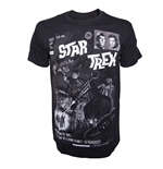 Camiseta Star Trek - Black Comic Book Cover