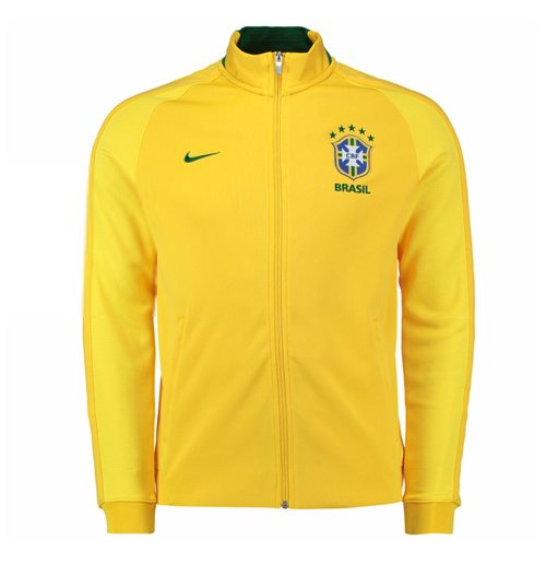 0e5af264ccf59 Compra Jaqueta Brasil futebol 2016-2017 (Amarelo) Original