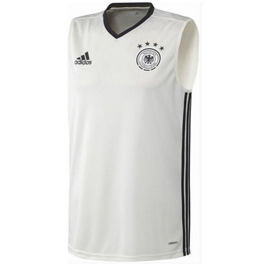 Compra Camiseta sem mangas Alemanha 2016-2017 Adidas (branca) e4bf8b91bb7b1