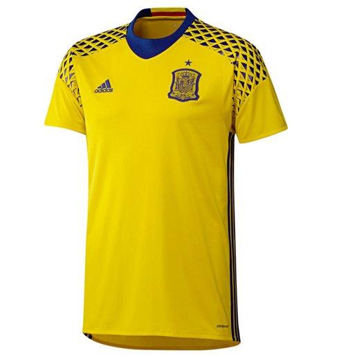 Compra Camiseta goleiro Espanha 2016-2017 Away Adidas (amarela) 3ae75ee61ae72