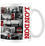 Caneca Londres - Red Collage