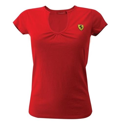 Camiseta Vermelha Ferrari de mulher