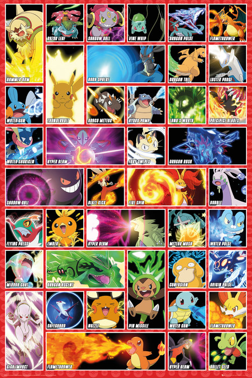 Póster Pokémon Moves
