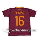 Camiseta AS Roma Home 2016/17 De Rossi 16 Réplica