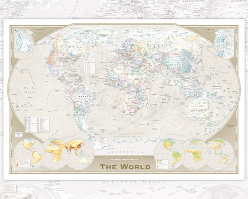Poster World map 229256