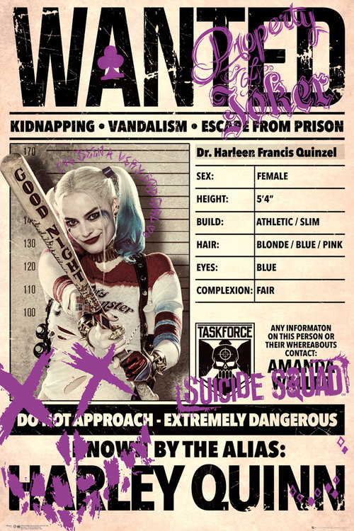 Póster Suicide Squad Harley Wanted