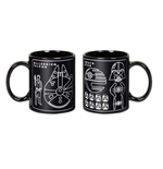Star Wars Caneca Millennium Falcon & Death Star Blueprint