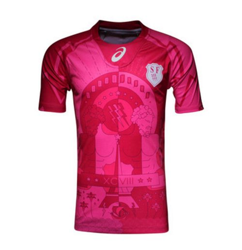 Camiseta Stade français Paris rugby 2015-2016 Away