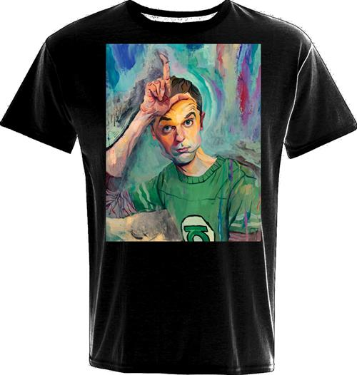 Camiseta Big Bang Theory Sheldon Art Loser