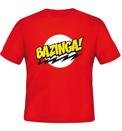 2d35f8789b Camiseta Big Bang Theory Bazinga Red Original: Compra Online em Oferta