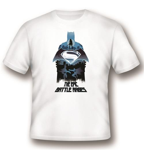 Camiseta Batman V Superman Epic Battle Rages