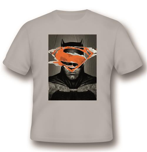 Camiseta T-shirt Batman V Superman Battle For Gotham Grey