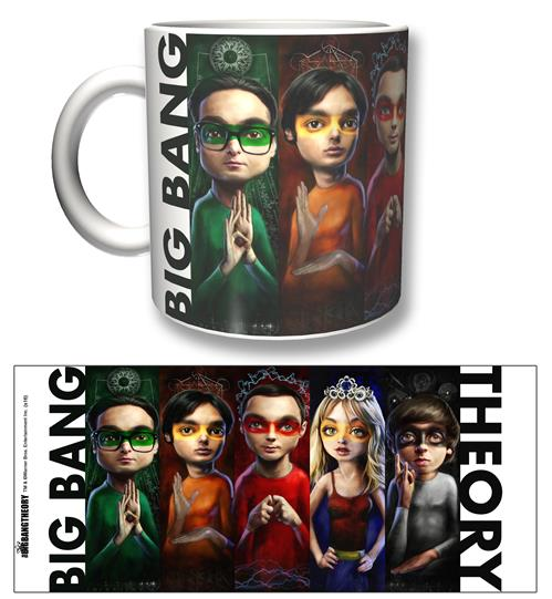 Caneca Big Bang Theory Heroes