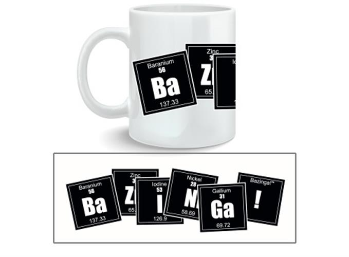 Caneca Big Bang Theory Bazinga Formula