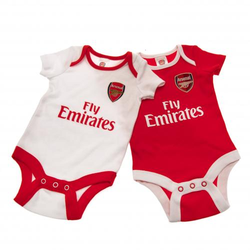 Pack de body de bebê Arsenal (0/3 meses)