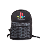 Mochila PlayStation Playstation - Classic Logo With Controller Patern Reversible Preta