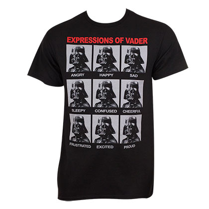 Camiseta Star Wars Expressions Of Darth Vader