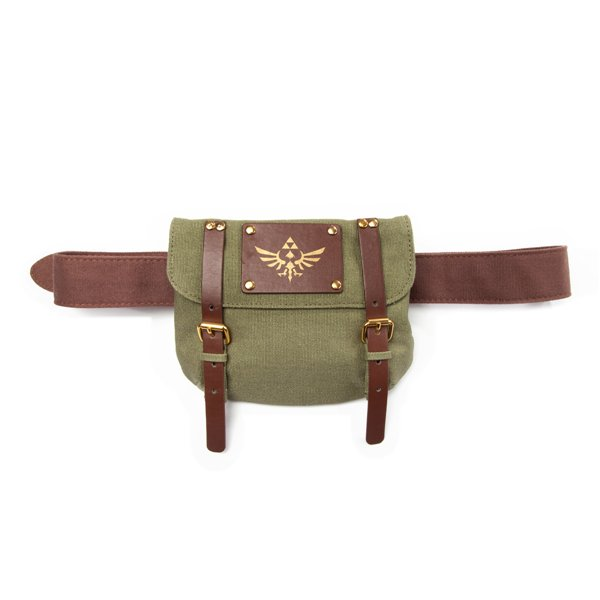 Cinto The Legend of Zelda com bolso verde