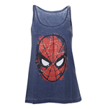 Camiseta de Suspensórios Marvel Super heróis Spiderman Head Paint
