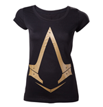 Camiseta Assassins Creed Gold Metallic Logo