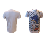 Camiseta Sonic the Hedgehog Checkered Background