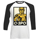 Camiseta Star Wars de homem - Design: Classic C3PO Block