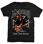 Camiseta Lemmy de homem - Design: Iron Cross Stone Deaf Forever