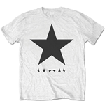 Camiseta David Bowie de homem - Design: Blackstar (on White)