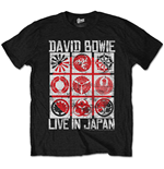 Camiseta David Bowie de homem - Design: Live in Japan