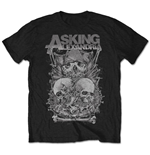 Camiseta Asking Alexandria de homem - Design: Skull Stack