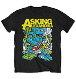 Camiseta Asking Alexandria de homem - Design: Killer Robot