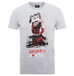 Camiseta Batman de homem - Design: Batman Arkham City Harley Quinn Somebody Loves Me