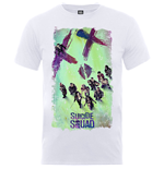 Camiseta Suicide Squad de homem - Design: Suicide Squad Movie Poster