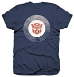 Camiseta Transformers de homem - Design: Transformers Target Logo