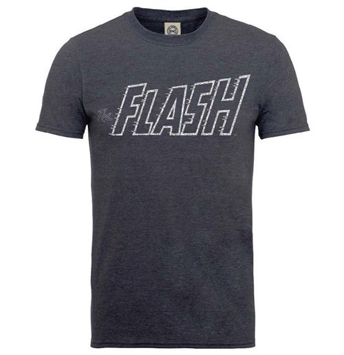 Camiseta The Flash de homem - Design: Originals The Flash Crackle Logo