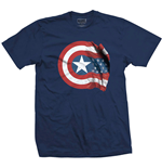 Camiseta Marvel Super heróis Captain America American Shield