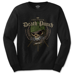 Camiseta manga longa Five Finger Death Punch de homem - Design: Warhead