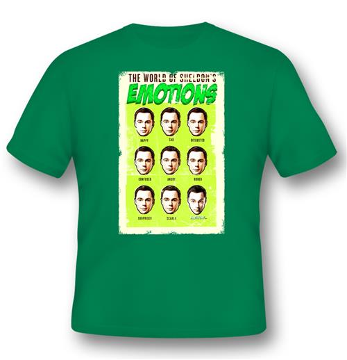 Camiseta Big Bang Theory World Of SHELDON'S Emotions