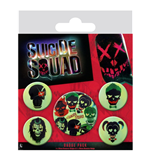 Set Broches Suicide Squad  - Skulls