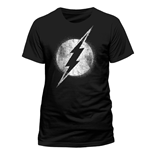 Camiseta The Flash - Logo Mono Distressed