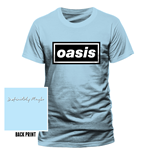 Oasis - Definitely Maybe - Camiseta Unisex Azul